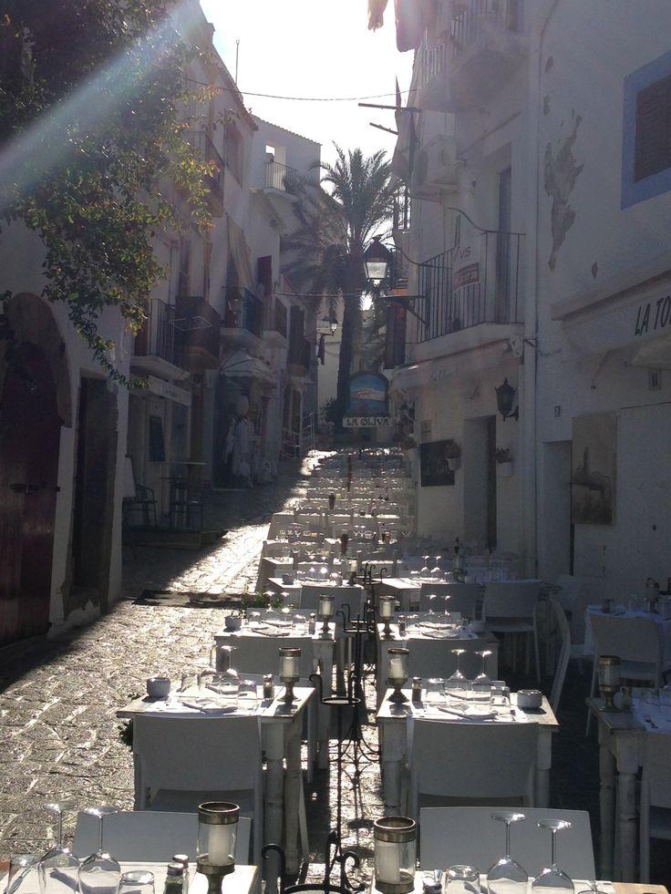 la oliva ibiza, top restaurantje in de oude stad.