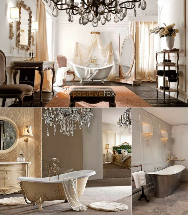 Classic Bathroom Interior Design • Classic Interior Design | Explore more Classic Bathroom Ideas on https://positivefox.com