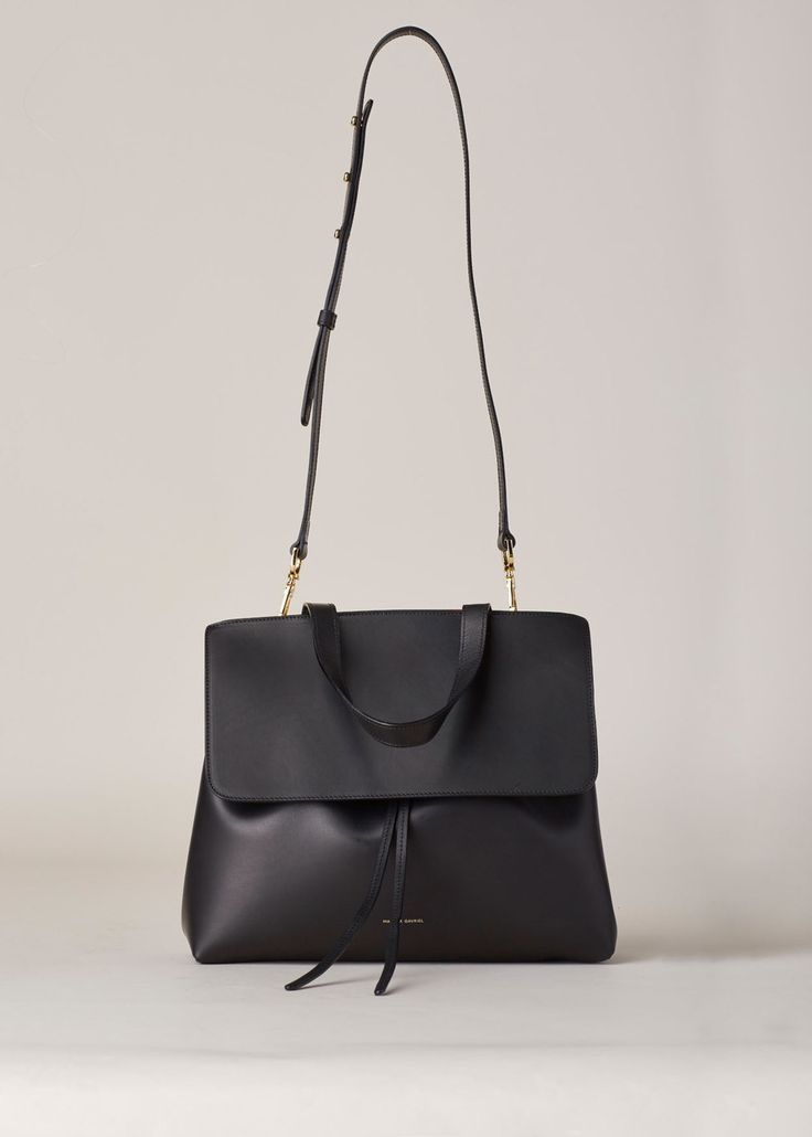 Mansur Gavriel Lady Bag (Black / Flamma) - name brand handbags, used designer handbags, ladies pouch purse *ad