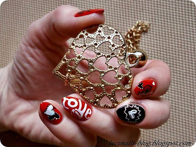 Walentynkowe paznokcie  z płytkami Dream Girl -12 i BC 11 od Edbeauty