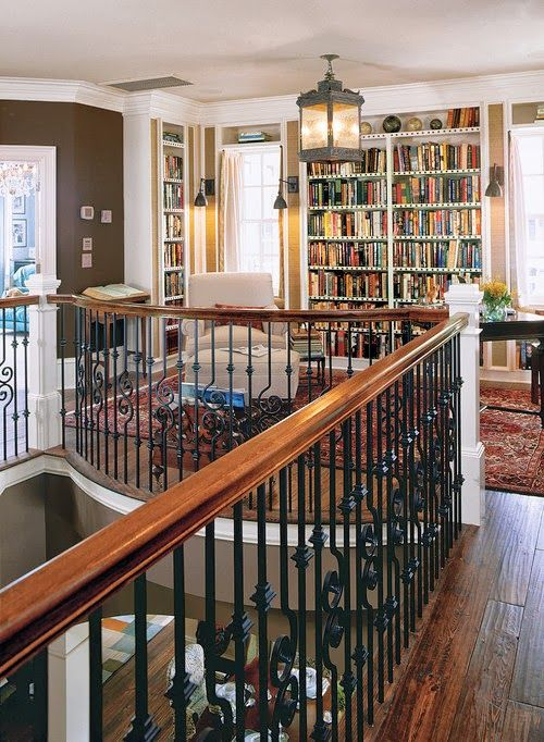Library on the Landing via Content in a Cottage