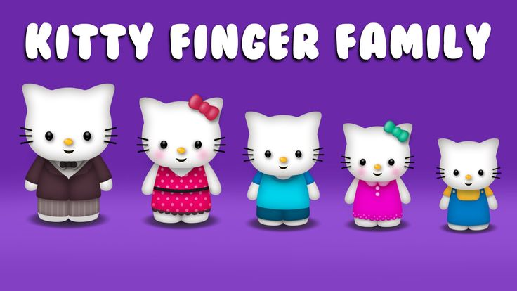 The Finger Family Kitty Family Nursery Rhyme | Kitty Finger Family Songs