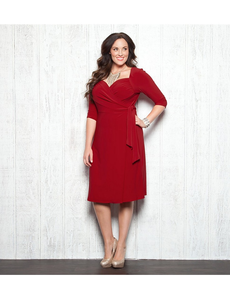 Red Cocktail Dress Full Figure