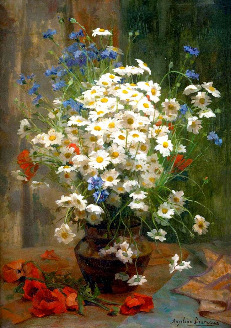 art.quenalbertini: Flowers in a vase, Angelina Drumaux