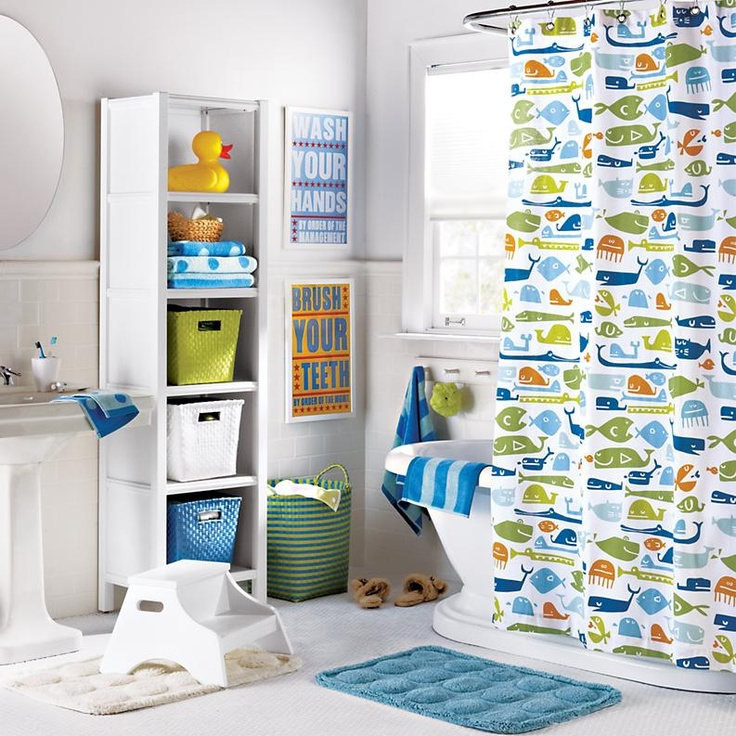 Best Kids Bathroom Images On Pinterest Kid Bathrooms - Kids bathroom shower curtains for small bathroom ideas