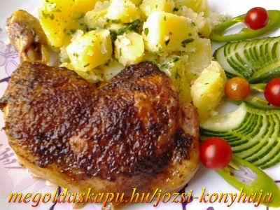 Rozmaringos, citromos sült csirkecomb http://megoldaskapu.hu/csirkecomb-receptek/rozmaringos-citromos-sult-csirkecomb • 6 db csirkecomb • 8 dkg vaj • 1 db citrom • 1 db rozmaring ág vagy szárított rozmaring • só • őrölt fekete bors • étolaj • szárnyas fűszerkeverék