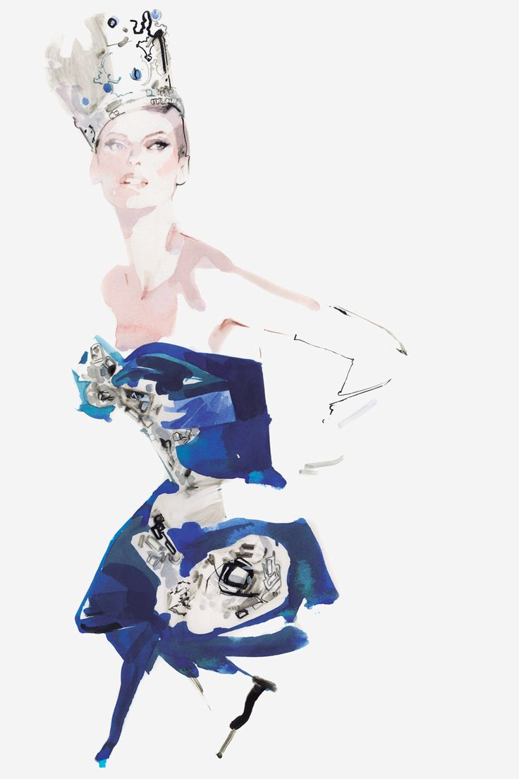 David Downton's Portraits of the World's Most Stylish Women - Linda Evagelista