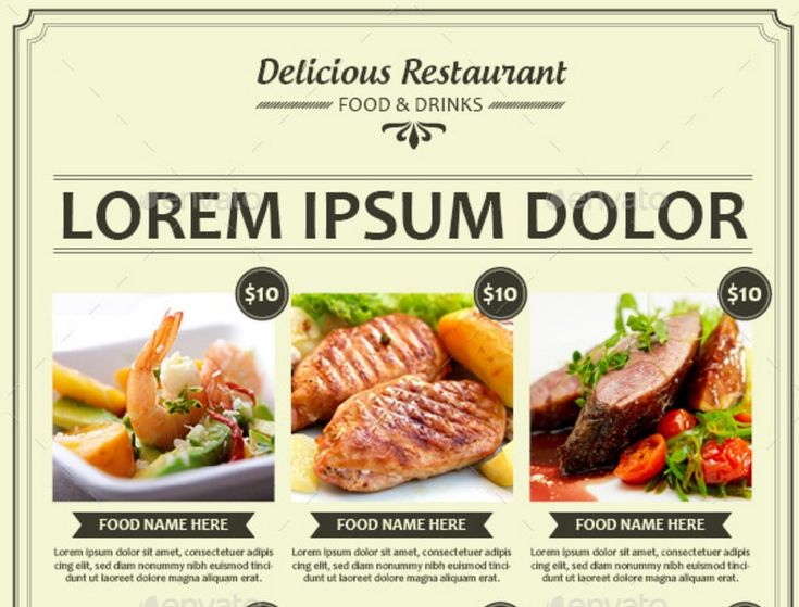 Best  Restaurant And Food Flyer Template Psd Ai And Vector