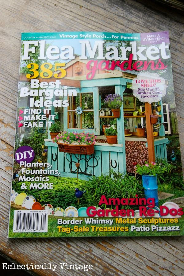 I Love This Little Shed   May Have To Build One. Flea Market Gardens  Magazine