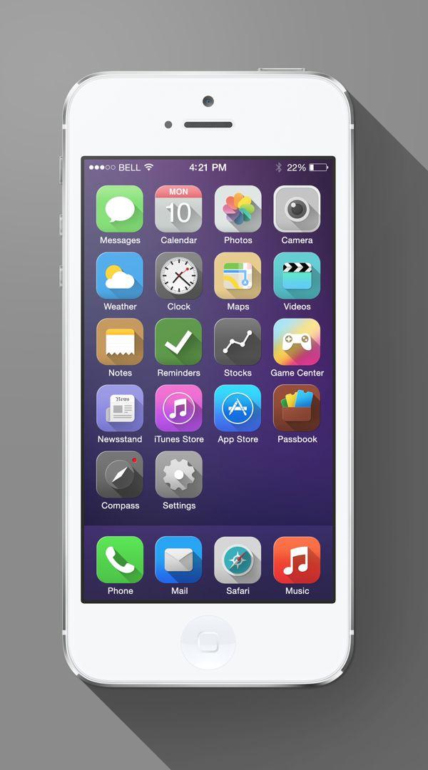 iOS 7 Long Shadow 5 iOS 7 Long Shadow Redesign