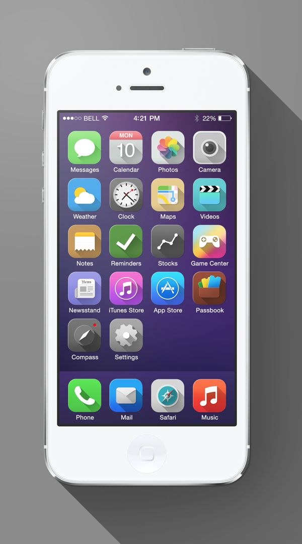 iOS 7 Long Shadow 5 iOS 7 Long Shadow Redesign