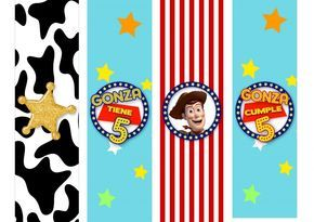 Etiquetas imprimible para candy bar de Toy Story