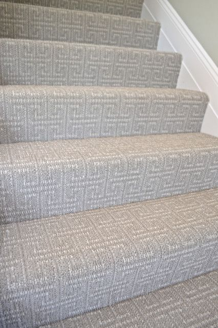 Who says carpet can't be stylish? Check out these great (budget) carpet ideas for your home. This patterned and textured Greek Key pattern is perfect for stairs.