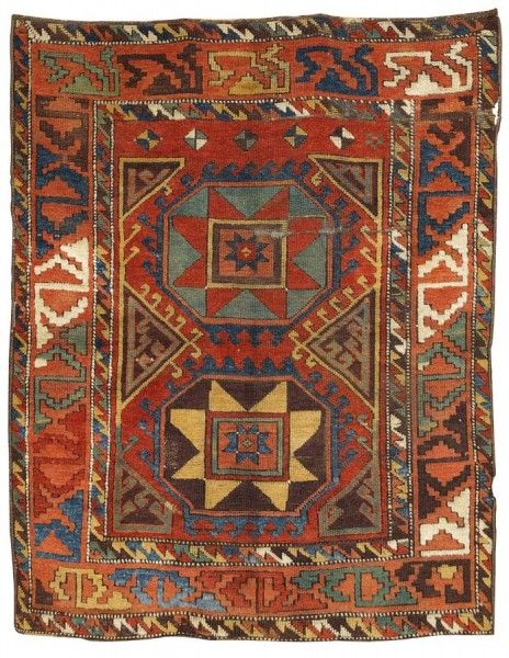 a Konya village rug from the end of the 18th century. Size 171 x 134 cm.  .Oriental Carpets, Textiles and Tapestries at Dorotheum