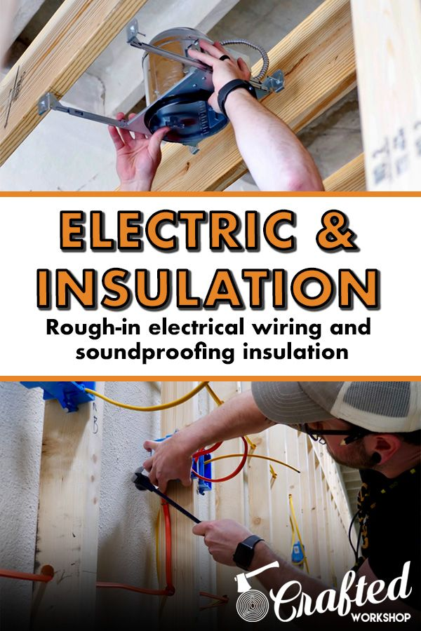In Part 2 Of My Shop Build Series I Ll Walk You Through The Rough In Electrical Wiring Installing Led Led Shop Lights Shop Lighting Soundproofing Insulation