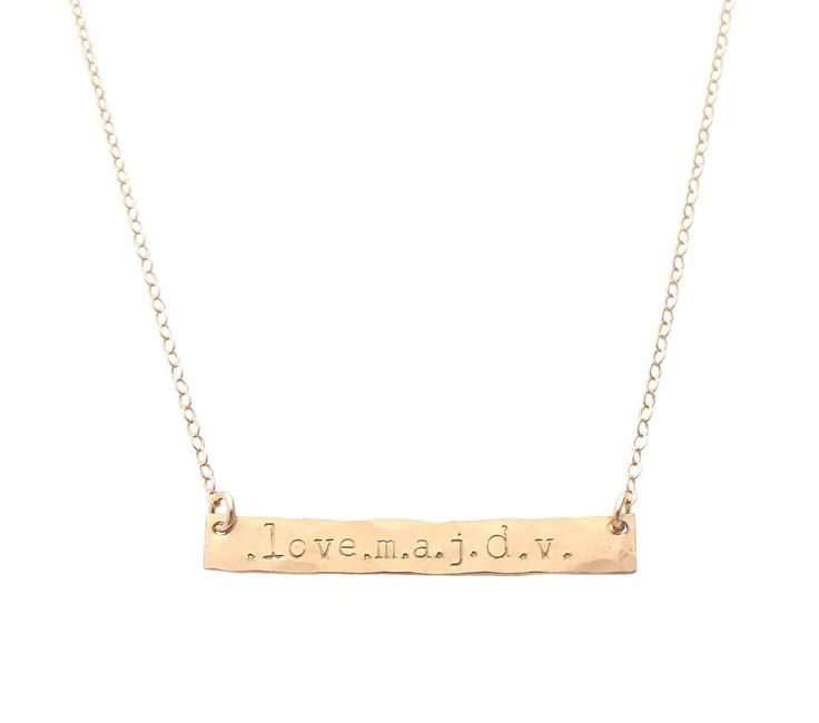 The Lara - I.D. BAR Necklace - Gold, Silver, Rose Gold