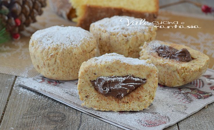 TORTINE DI PANDORO nutella e mascarpone ricetta facile e veloce,ricetta dolce di Natale senza cottura,ideale anche per riciclare il pandoro durante le feste
