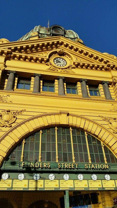 Flinders Street Station in Melbourne, VIC