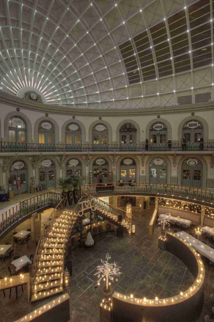 Leeds Corn Exchange just go and see this place, never mind the food the architecture is stunning...foods a plus.