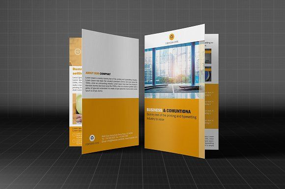 Creative Bifold Business Brochure by Madhabi Studio on @creativemarket