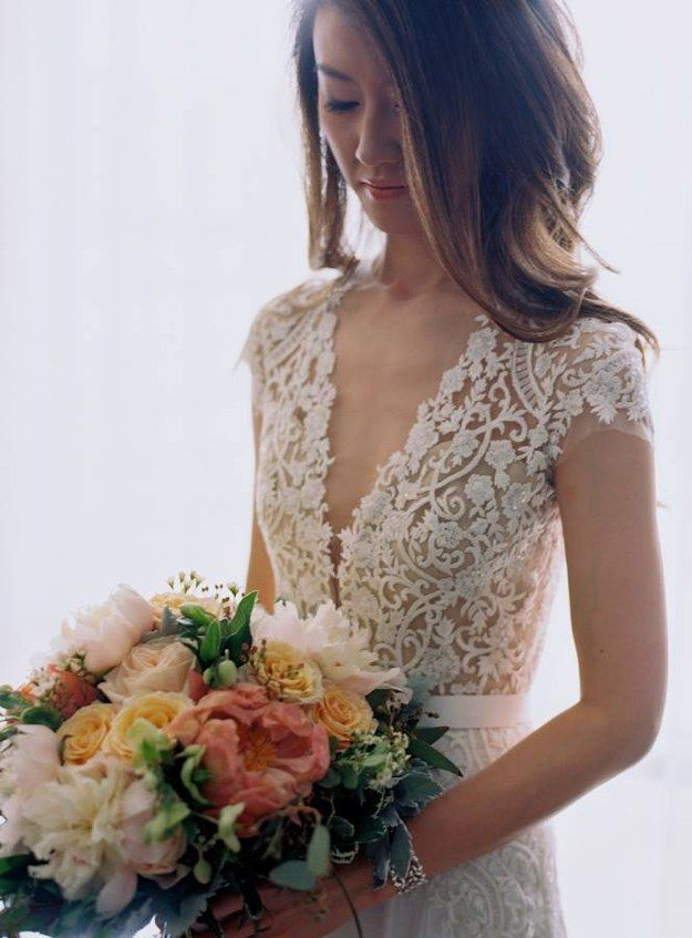 This delicate bodice: | 32 Incredible Wedding Dress Details You Have To See