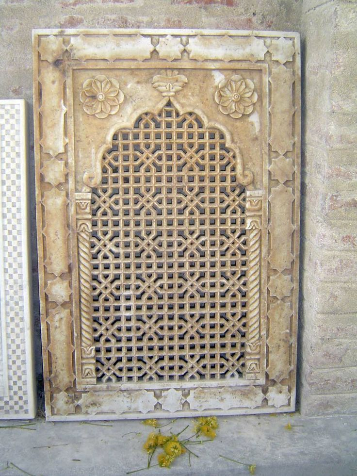 that of very goods deign of marble window jalis that make by hand carving work both side.