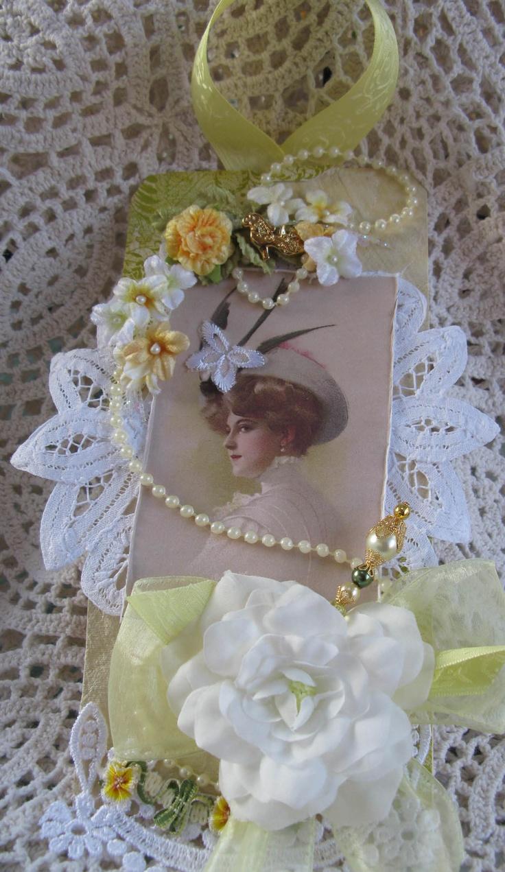 Vintage wedding scrapbook ideas - Victorian Lady Tag