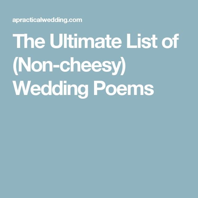 17 Best Ideas About Love Poems For Weddings On Pinterest