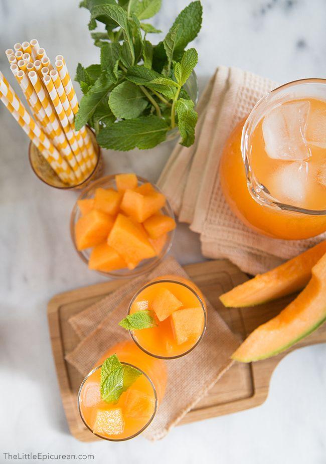 Cantaloupe Lime Agua Fresca Recipe — Dishmaps
