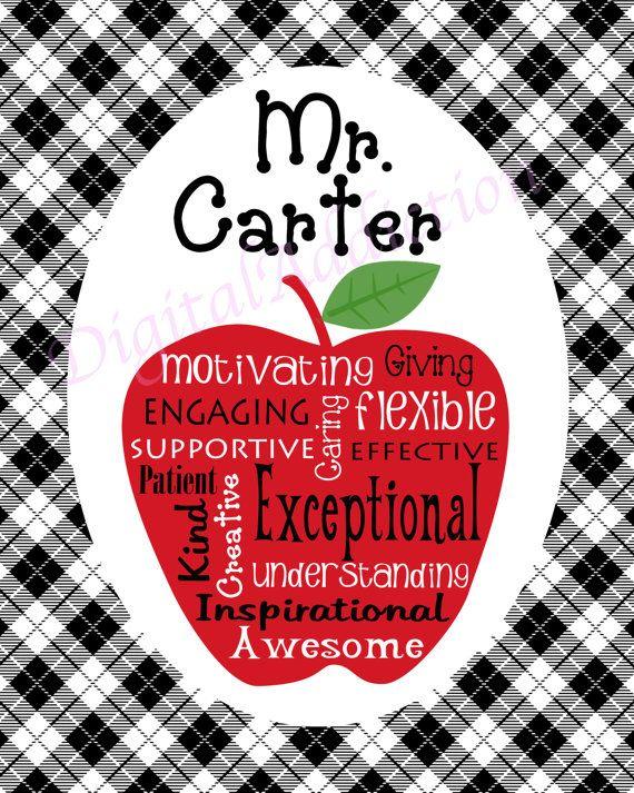Teacher Appreciation... Personalized Digital Download ...