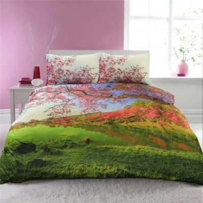 Park Side 100% Cotton Duvet Cover Set