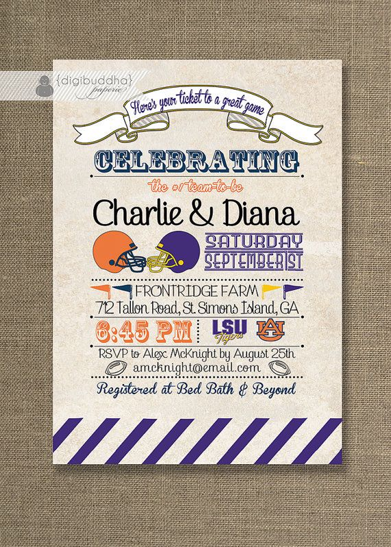 football rivals couples shower invitation any by