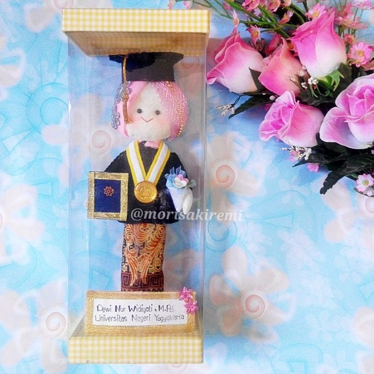 custom graduation felt doll 25cm $25 Yogyakarta State University
