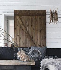 Grote houten schuifdeur