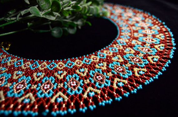 Exquisite Beaded Necklaces, Seed bead necklace, Collar necklace