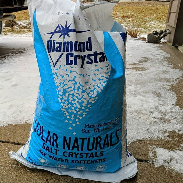 Ice Melt Is Scarce In Kansas City Water Softener Salt Crystals Will Work For Now As Long As It Stays Above 20 Degre Water Softener Softener Salt Salt Crystal