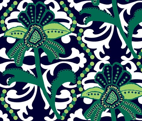 Would look excellent in the medicine cabinet!!!!  Beach Mod fabric by paragonstudios on Spoonflower - custom fabric