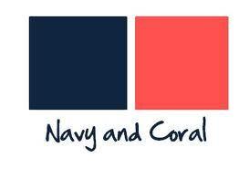palette: Idea, Color Combos, Color Schemes, Dream, Living Rooms Color, Navy Coral, Wedding Colors, Coral Weddings, Weddings Color