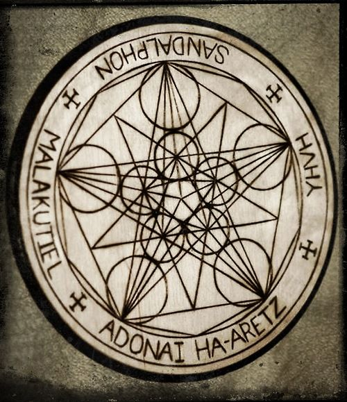 Ceremonial Magick:  #Ceremonial #Magick ~ Seal of Sandalphon, the Archangel of Malkut on the Tree of Life, as designed by Judi Aurielle Nazro.