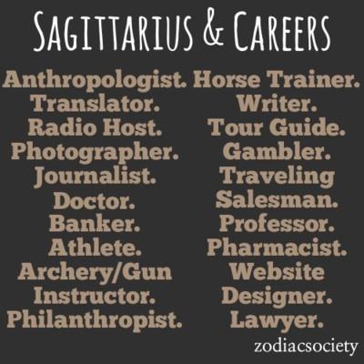 Best career options for sagittarius