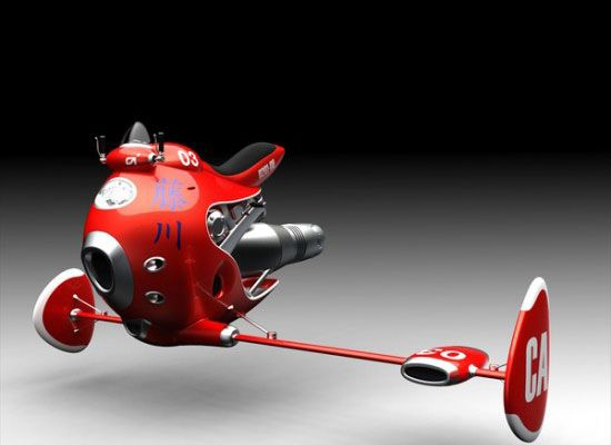 Amazing Futuristic Design Concepts We Wish Were Real: Propulsion Powered Flying Cycle