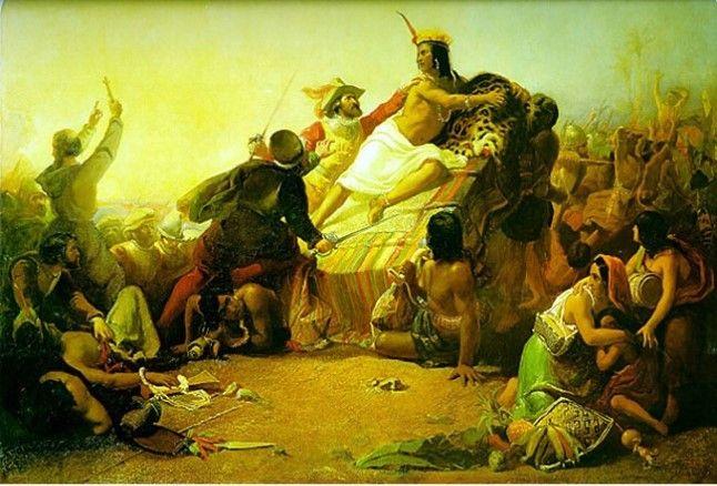 <전쟁5> 존 밀레이 '페루의 잉카를 잡는 피사로'