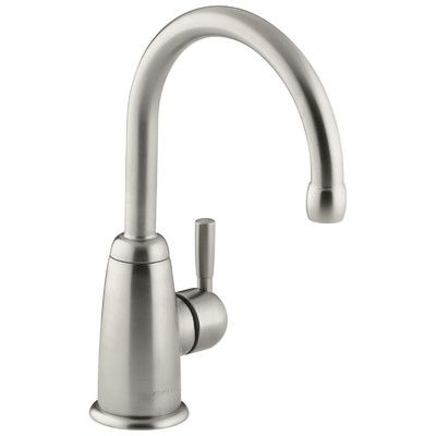 Kohler Wellspring Beverage Faucet with Contemporary Design Complete with Aquifer Water Filtration System Finish: Vibrant Stainless