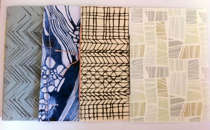 hand made book binding & print patterns