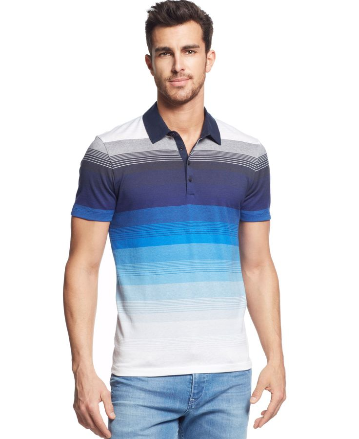 Boss Hugo Boss Arpino Slim-Fit Striped Polo Shirt