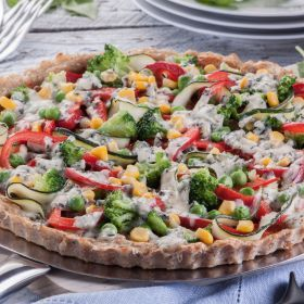 Pizza na mięsnym spodzie