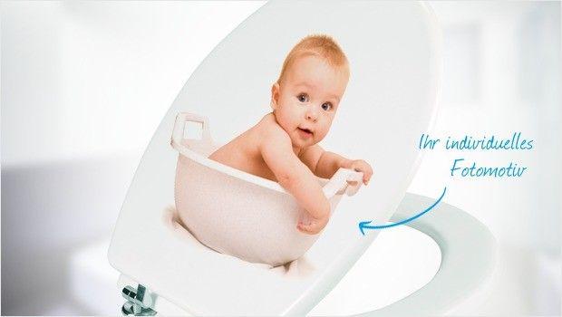 Selbst gestalteter WC-Sitz Ideal Standard weiß