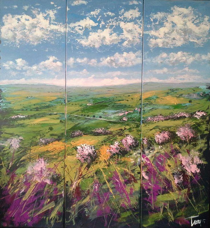 Il cielo d'aprile 90x110 cm acrilico su mdf Luigi Torre painter 2015
