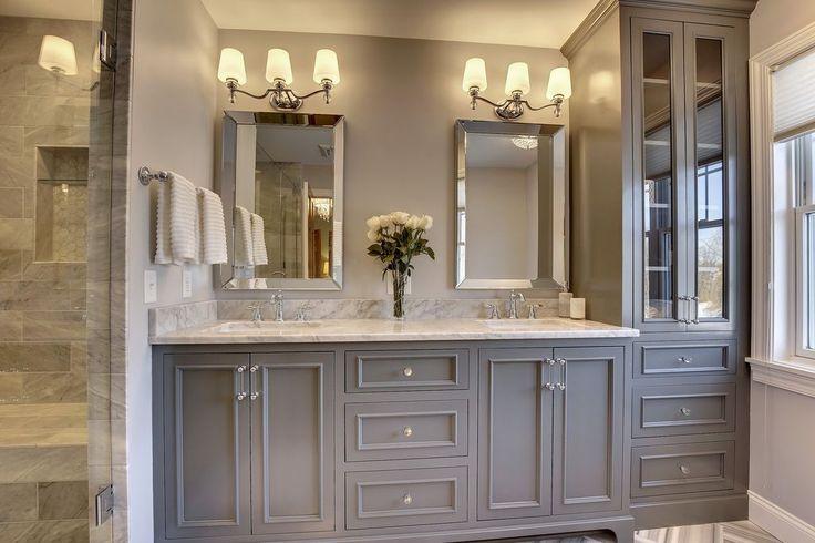 150 best masterbath images on pinterest bathroom photos for Master bathroom vanity ideas