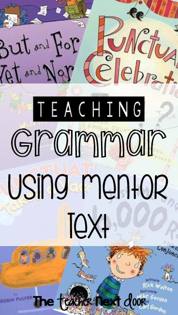 Mentor texts are a great tool to use in the elementary classroom for grammar instruction and practice.